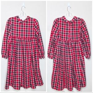 Hanna Andersson Plaid Dress Red